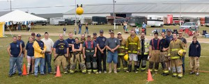 fire personnel water ball competition