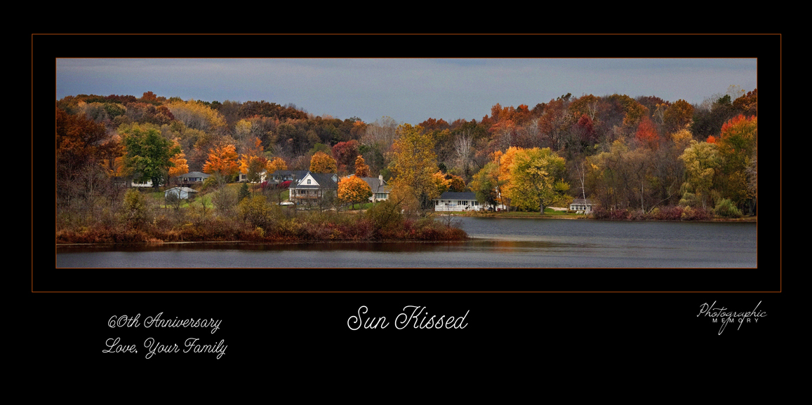 Leach Lake in fall color