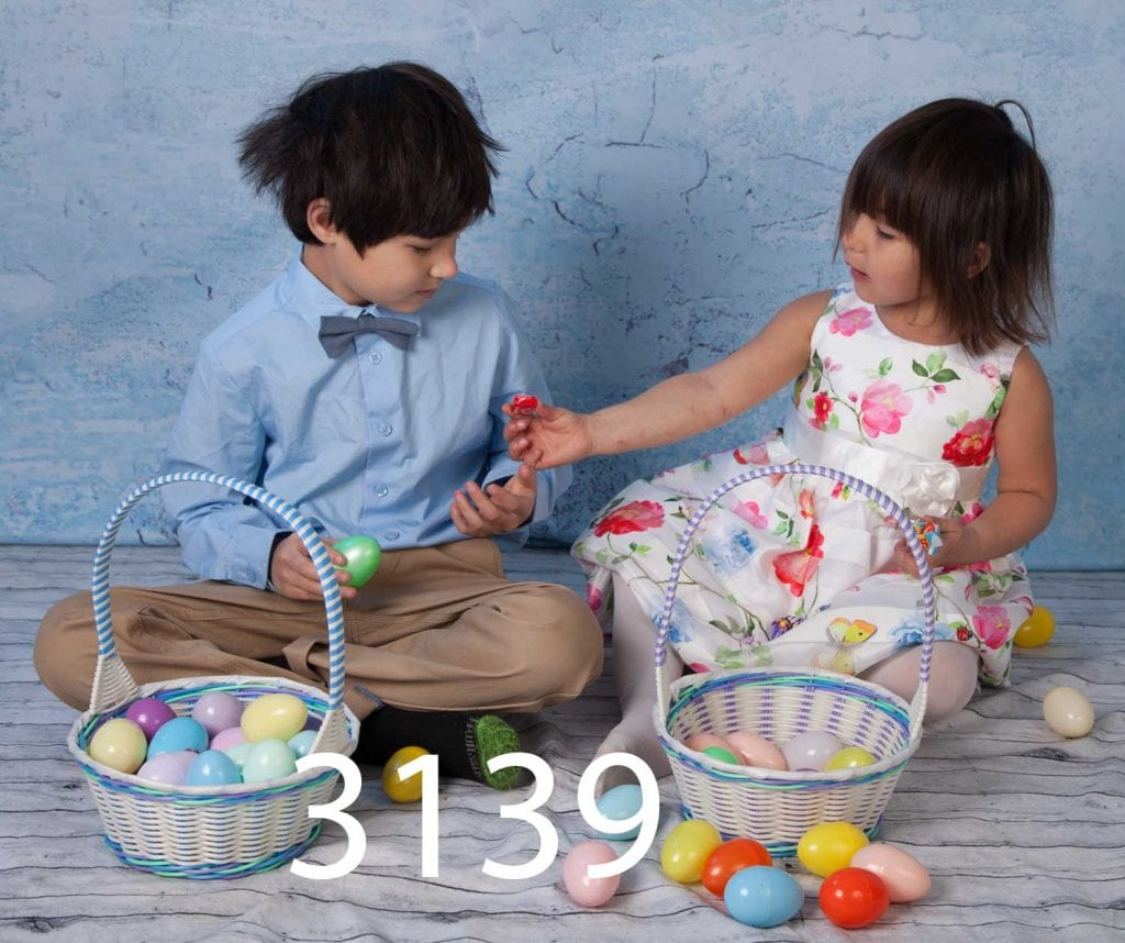 children in Easter outfits